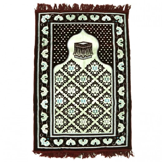 Prayer Mat with Memory Foam - Maroon