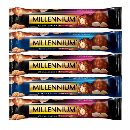 Millennium Hazelnuts Dark Chocolate 40 g (5 Pieces)
