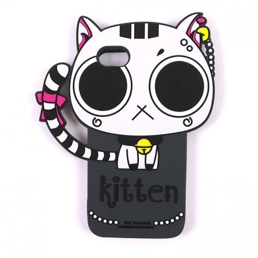 WK Design Silicone Cat Case for iPhone 7 Plus / 8 Plus - Black