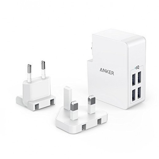 Anker PowerPort 4 USB Charger 8A - White