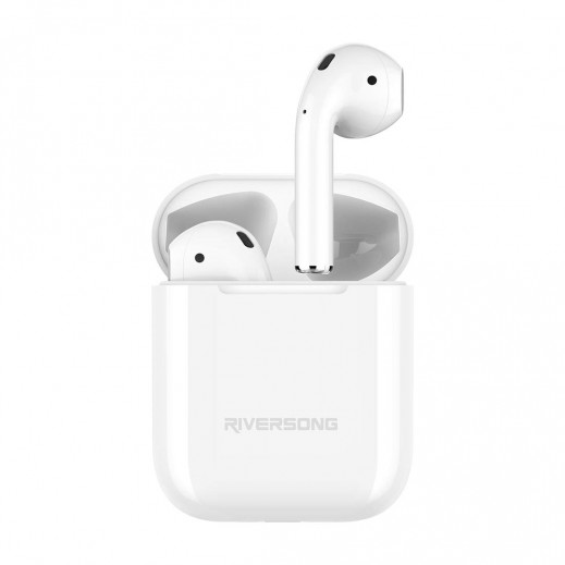 Riversong True Wireless Earphones with Charging Case - White