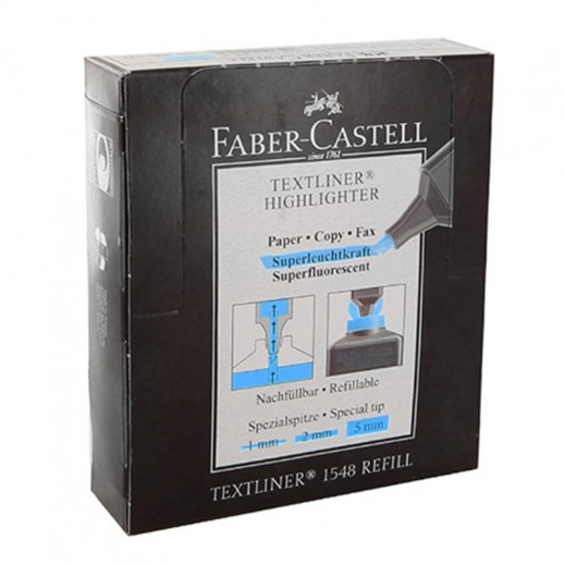 Wholesale - Faber Castell Textliner Highlighter Blue -10 pieces (12 packs