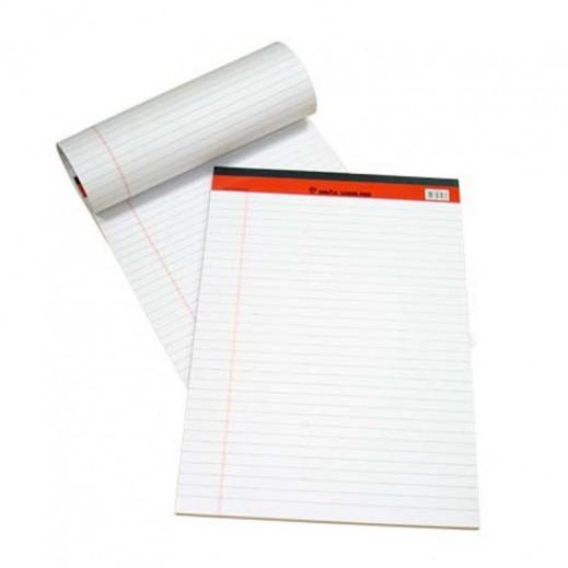 Wholesale - Sinarline Legal Pad White A4 Size (12 x 10 pieces)
