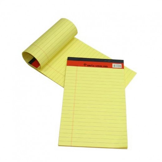 Wholesale - Sinarline Legal Pad Yellow A4 Size (12 x 10 pieces)