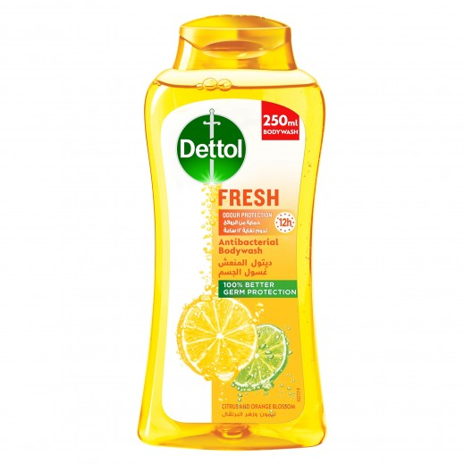 Dettol Fresh Anti-Bacterial Body Wash Citrus & Orange Blossom 250ml