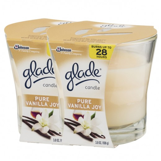 Glade Candle Pure Vanilla Joy 96.3 g x 2 pieces