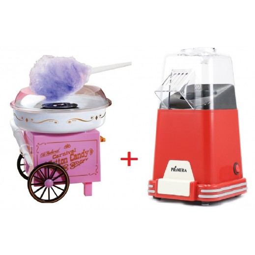 Primera Popcorn Maker + Primera Candy Floss Maker