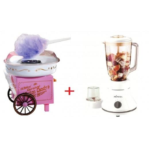 Primera Candy Floss Maker + Primera 2 in 1 Glass Blender