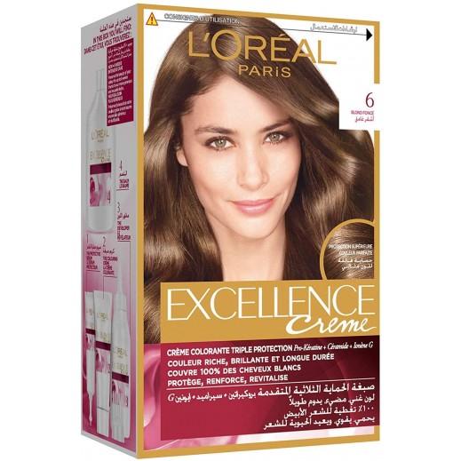 L'Oreal Paris Excellence Crème 6 Dark Blonde Hair Color