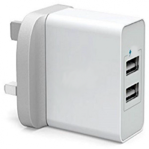 Devia  Wall Charger Suit ( 3.1A,2-USB) with Type-C Cable - White