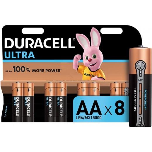 Duracell Ultra Alkaline AA Batteries 1.5V Monet 100% - 8Pcs