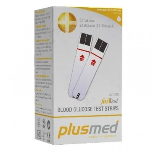 Plusmed Blood glucose Test Strip pm-100(ST) - 50  Strips