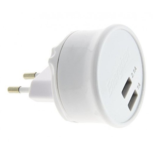 Energizer 2USB Wall Charger For Iphone,Ipod & Ipads