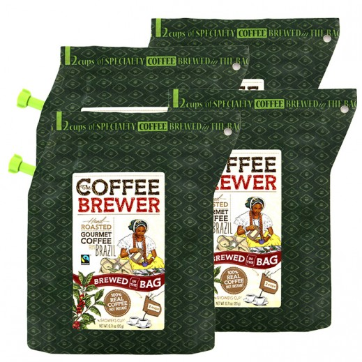 ValuePack - The Coffee Brewer Hand Roasted Gourmet Coffee (Brazil) 20 g (4 Pieces)