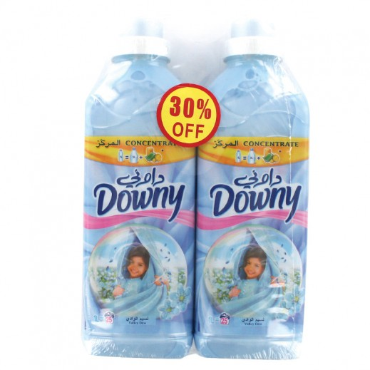 Downy Blue Valley Dew Concentrate 2x1 ltr (30% off Prom)