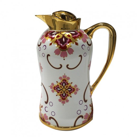 Mydot Deluxe Flask 0.600 ml White Red Flowers