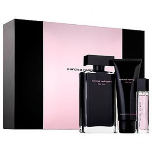 buy narciso rodriguez gift set for her edt 100 ml body lotion 75 ml edt 10 ml. Black Bedroom Furniture Sets. Home Design Ideas