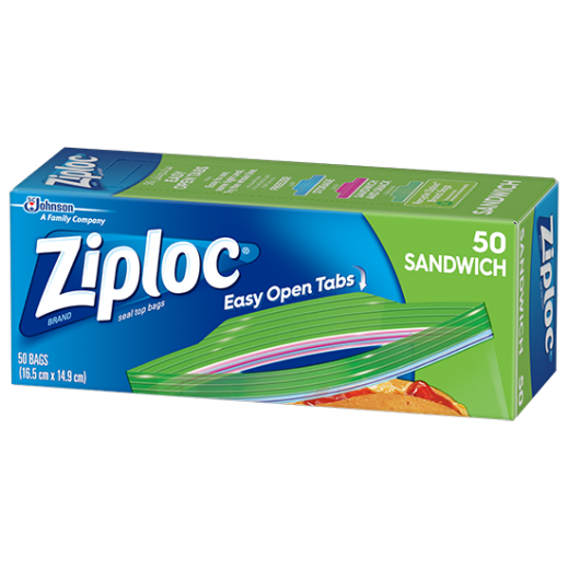 Ziploc Sandwich Bags 50 Pieces