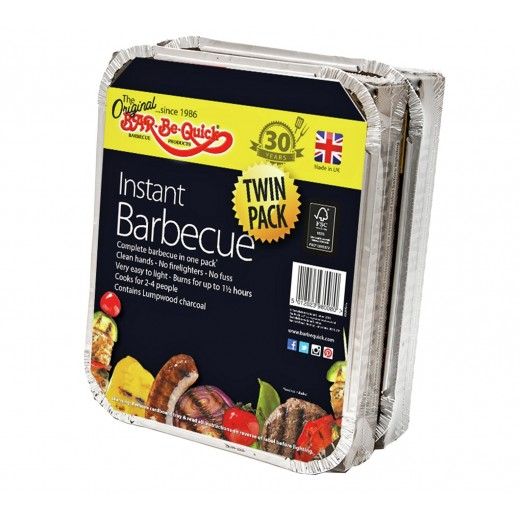 Bar-Be-Quick Instant Disposable Barbecue Set Twin Pack