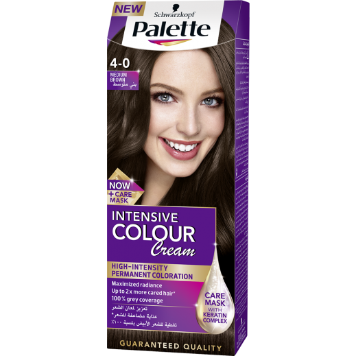 Palette Intensive Colour Cream 4-0 Medium Brown 50 ml