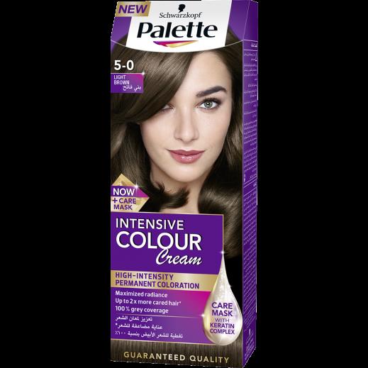 Palette Intensive Colour Cream 5-0 Light Brown 50 ml