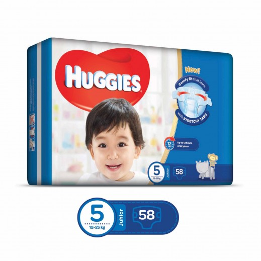 Huggies Superflex Stage 5 Junior (12-25 Kg) 58 Pieces