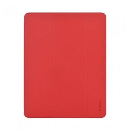 """Devia Leather Case with Pencil holder for Apple iPad Pro 11"""" (2018) - Red"""