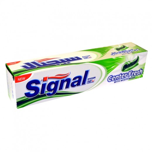 Signal Center Fresh Green Mouth Wash Tooth Paste 120 ml