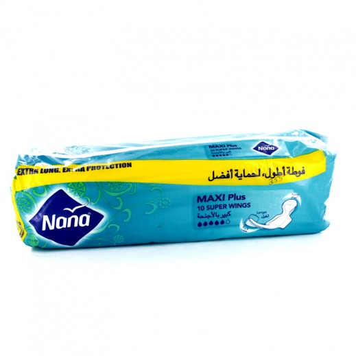 Fine Nana Maxi Plus Sanitary Pads Super With Wings 10 pieces