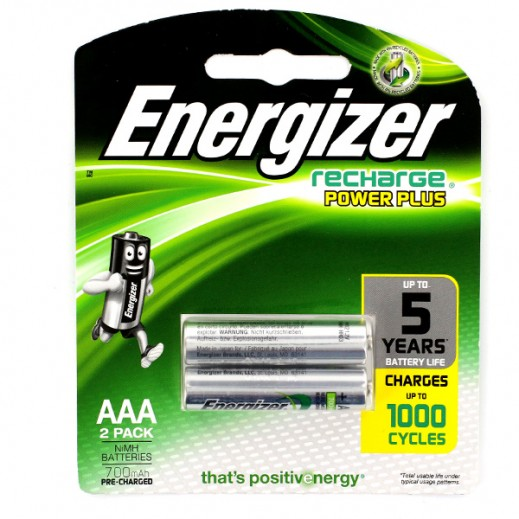 Energizer Recharge AAA Battery 2 Pack