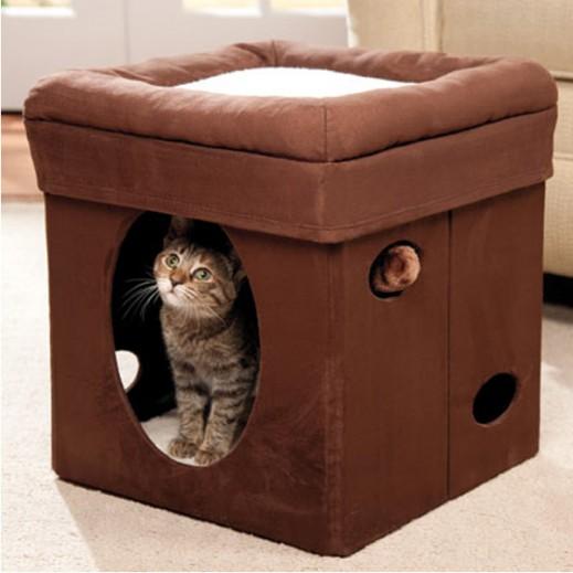 Midwest Feline Nuvo Curious Cat Cube (38.4x38.4x42 Cm)