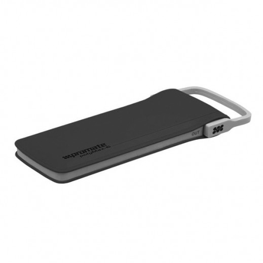 Promate Lithium Polymer Power Bank 6,000mAh with Charging Cable Black