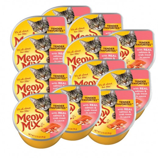 Wholesale – Meow Mix Salmon & Crab Meat (Cat Food) 78 g (12 Pieces)