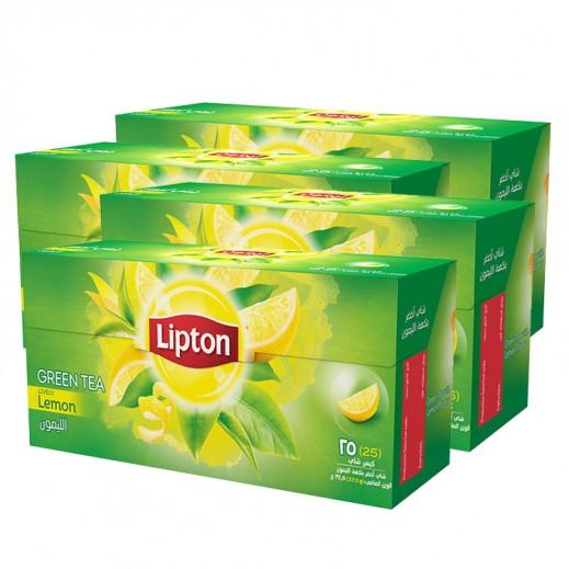 Wholesale - Lipton Green Lemon Tea 25 Bags (4 Pieces)
