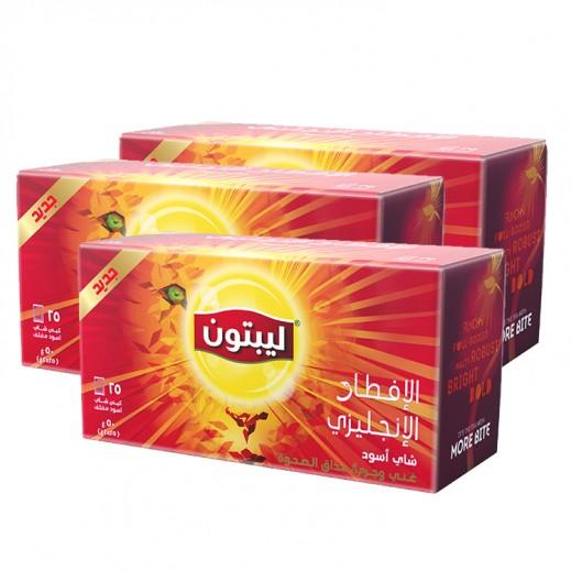 Wholesale - Lipton Flavoured Black English Breakfast Tea 25 Bags (3 Pieces)