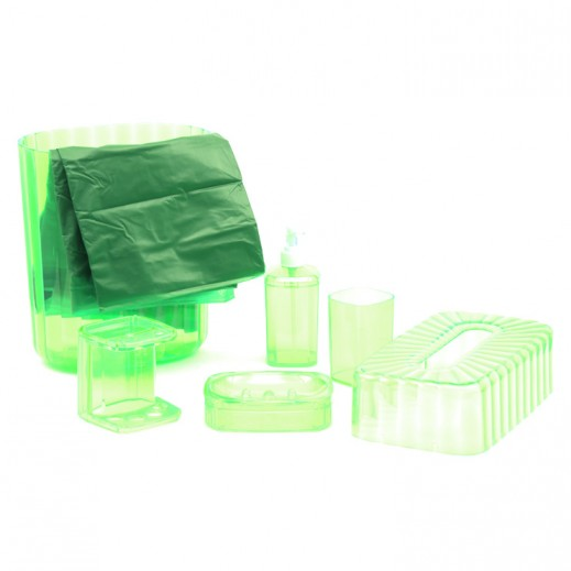 7 in 1 Bath Room Accerrories - Green