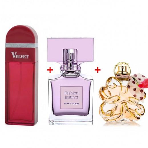 Elizabeth Arden Red Door Velvet For Her EDP 100 ml + Nafnaf Fashion Instinct For Her EDT 100 ml + Lolita Lempicka Si Lolita For Her EDP 80 ml Free Prom
