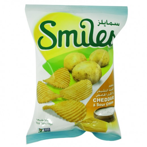 Fico Smiles Cheddar & Sour Cream Chips 170 g
