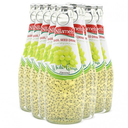Nilamels White Grape Flavored Basil Seed Drink 290 ml (24 Pieces)