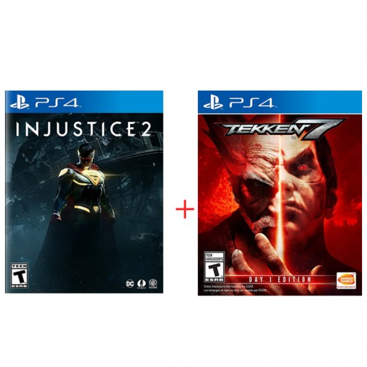 Injustice 2 for PS4 - NTSC + Tekken 7 for PS4 - NTSC