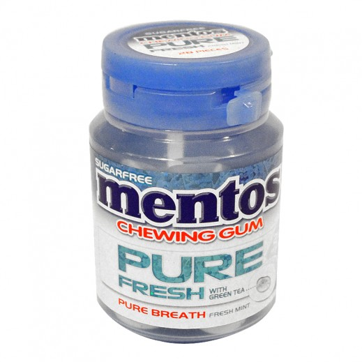 Mentos Fresh Mint Gum Bottle 56 g