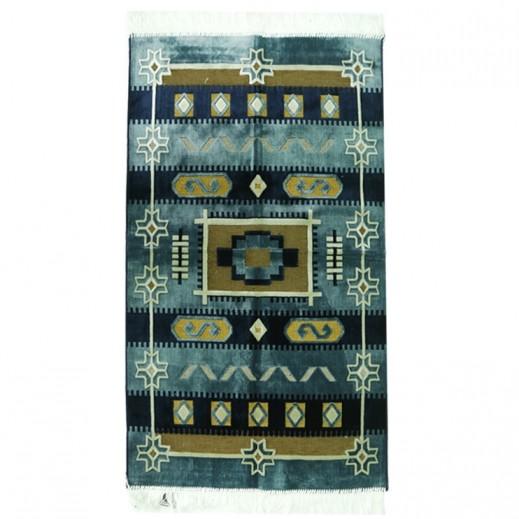 Prayer Mat with Sadu Design - Blue