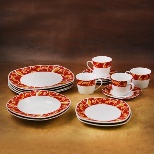 Casa Joven Dinner Set Red - 20 Pieces