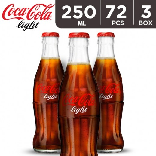Wholesale - Coca Cola Light Bottle 250 ml (3 x 24 pieces)