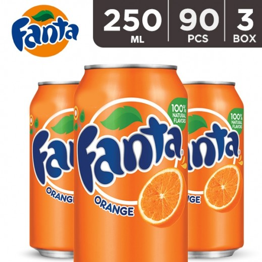 Wholesale - Fanta Orange Can 250 ml (3 x 30 pieces)