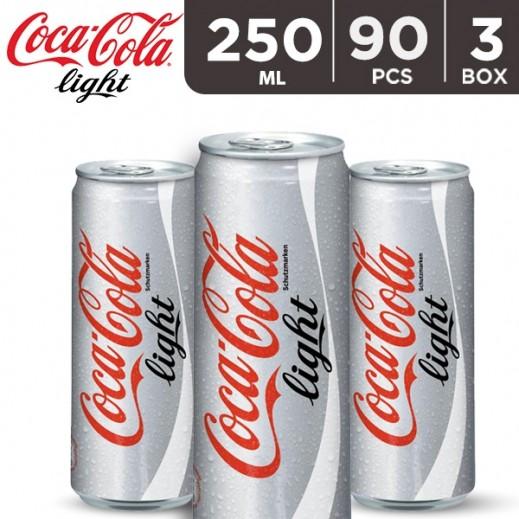 Wholesale - Coca Cola Light Can 250 ml (3 x 30 pieces)