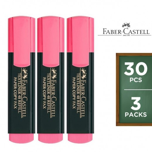 Value Pack - Faber Castell Grip Textliner Pink 10 pieces (3 packs)