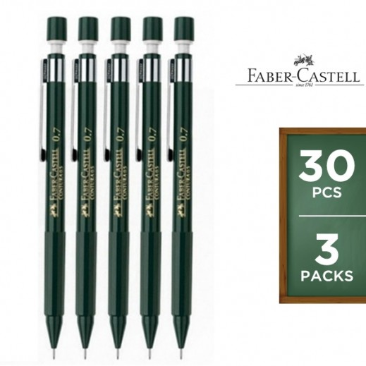 Value Pack - Faber Castell 0.7m Contura Pencil 10 pieces (3 packs)
