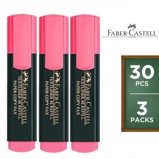 Value Pack - Faber Castell Textliner Highlighter Pink 10 pieces (3 packs)