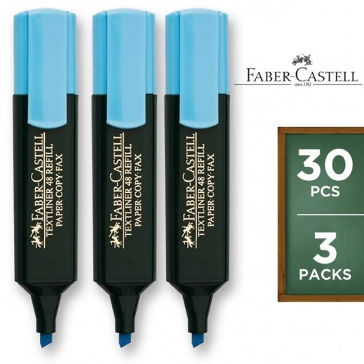 Value Pack - Faber Castell Textliner Highlighter Blue -10 pieces (3 packs